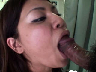 Busty brunette Asian gets shagged impecunious mercy